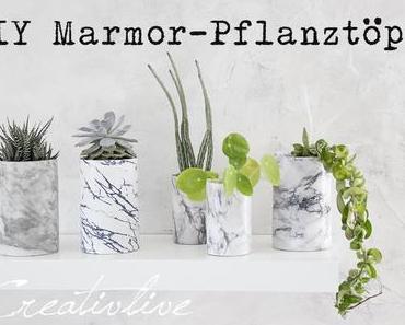 DIY Marmor-Pflanztöpfe