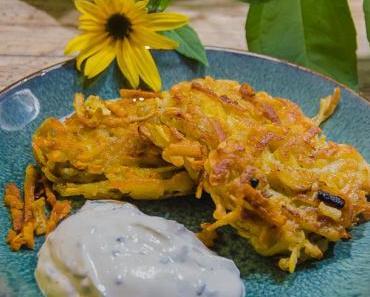 Superfood aus alten Zeiten: Die Indianerkartoffel – Topinambur-Puffer mit Quark-Schnittlauch-Dip
