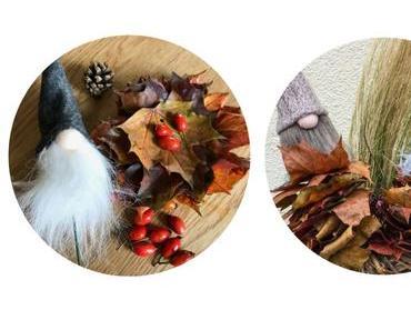 Herbstbasteln mit Kindern: Blättermännchen und Herbstgirlande