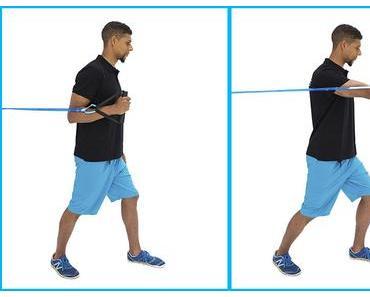 Krafttraining mit Bändern. Zuhause, im Studio oder auf Reisen Kraft zu trainieren ist jetzt einfach