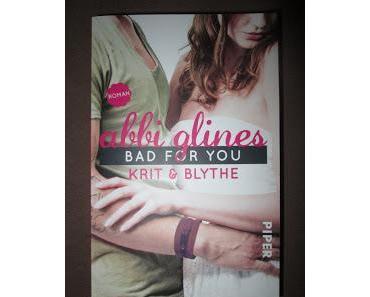 Der Gewinner der Verlosung zu Bad for you: Krit und Blythe von Abbi Glines