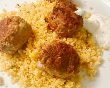 Familienküche: Fleischbällchen gehen immer. Auch mit Couscous!