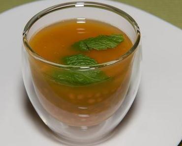 Möhrensuppe mit roten Linsen (vegan)