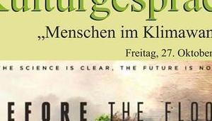 "Termintipp: KULTURGESPRÄCH ""Menschen Klimawandel"""