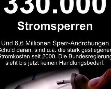 Neuer Rekord -> 330.000 Stromsperren