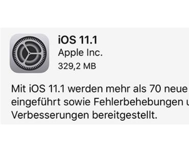 Update-ὄργια: WordPress 4.8.3, iOS 11.1 für iPhone, iPad…, iTunes 12.7.1 und macOs 10.13.1