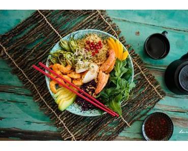 Rezept: Buddha Bowl mit Gemüse und Garnelen