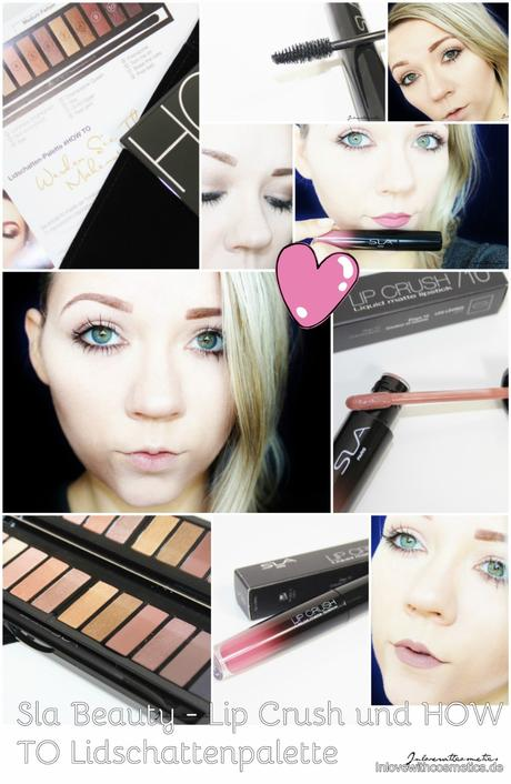 "Deynique Cosmetics – Sla Paris ""How to"" Lidschattenpalette und Lip Crush Lippenstift"