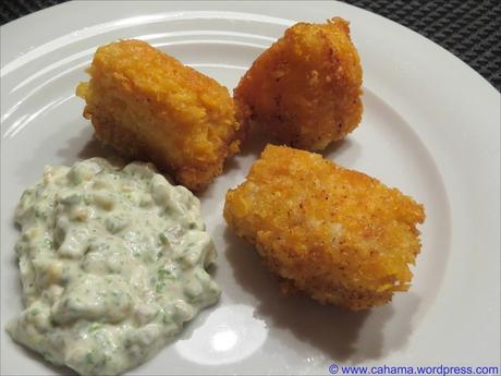 Fisch-Nuggets in Cornflakes-Panade