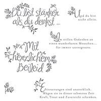 Herzliches Beileid Photopolymer Stamp Set (German)