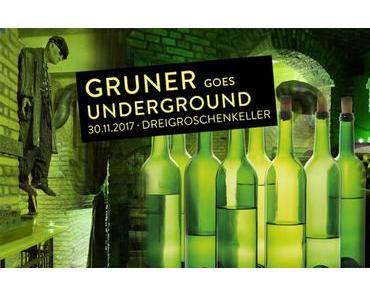 """Vorankündigung: """"Gruner goes Dreigroschenkeller"""" – die schräge Weinparty - + + + Am 30. November 2017 ++ neun Weinviertel-Winzer ++ Partystimmung ++ gute Weine + + +"""