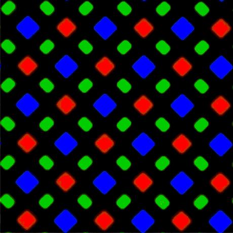 iPhone X Diamat-Subpixel Pattern (BIldquelle: Techcrunch.com)