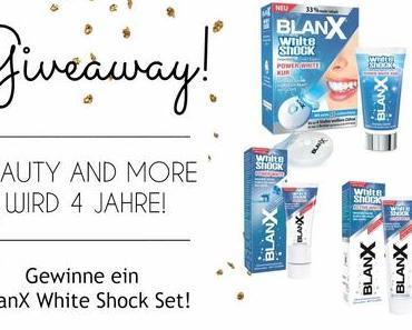 4 Jahre Beauty and More – BlanX White Shock Set Gewinnspiel