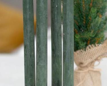 Minimalistischer DIY Holzscheiben Adventskranz