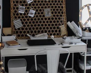 Büro Makeover – endlich Ordnung im Büro – und eine schwarze Wand