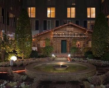 The Hut – Die Alm im Garten des Le Méridien - + + + Winterzauber und Almfeeling mitten in der Stadt ++ hochwertig-bayerische Küche ++ Glühbier + + +