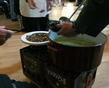 Lauwarme Mönchssuppe mit Ballaststoff-Croutons