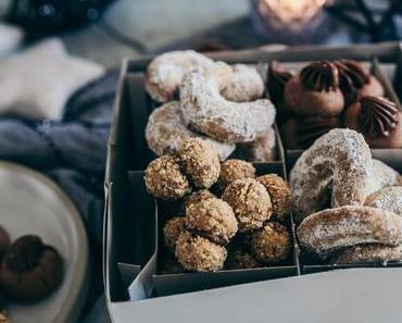Wenig Aufwand, viel Wow – wenn's in der Weihnachtsbäckerei schnell gehen muss. Haselnuss-Espresso-Busserl und Nutellotti