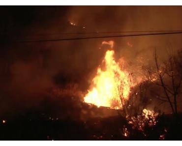 Wieder flüchten Zehntausende in Kalifornien vor Inferno
