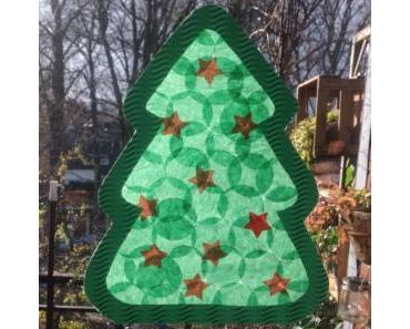 Basteln mit den Kleinsten – oder – Fensterbilder für die Weihnachtszeit: Tanne und Stern