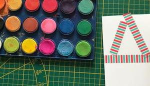 Weihnachtskarten selber basteln Kindern Easypeasy
