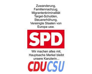 SPD und CDU/CSU machen weiter wie gewohnt, Einsicht oder zugeführter Volksschaden bleiben Fremdwörter für diese Parteien