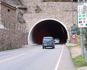 Freie Fahrt durch den Sóller-Tunnel