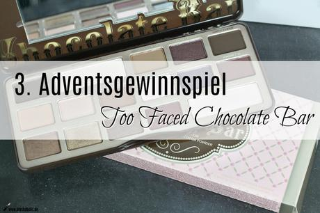 |Liebster Blogger Advent| Gewinnspiel Too Faced Chocolate Bar Palette & mein Festive Look III