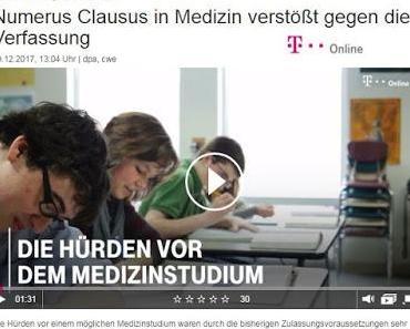 Numerus Clausus für Studium der Medizin abgeschafft