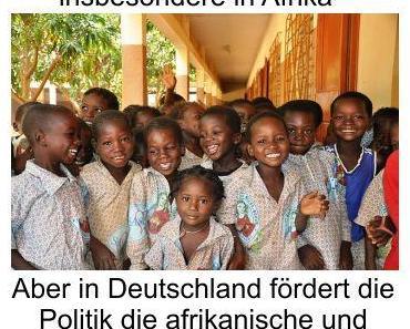 Die Weltbevölkerung wächst zusehends, doch die Politik fördert den afrikanischen und arabischen Kinderwahn in Deutschland mit monatlichen Geldgeschenken