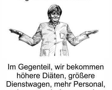 Merkels Volkszustimmung liegt immer noch bei 49 Prozent, trotz Haftungslosigkeit für milliardenteure Volksschäden