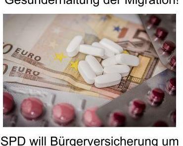 Das Kostenproblem der Beitragszahler zur Krankenversicherung heißt Flüchtlingsmigranten, nur die verursachende Politik sagt es nicht