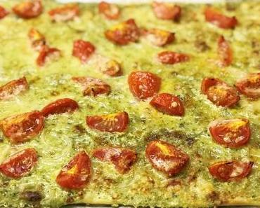 Vegetarischer Flammkuchen: Für einmal ganz ohne Speck