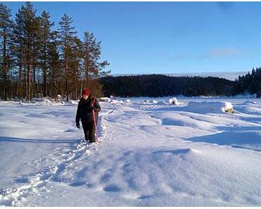 Silvester auf unserer Hütte in Mittelschweden