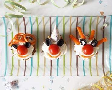 Gesunder Fasching: Pikante Muffins im Clownskostüm