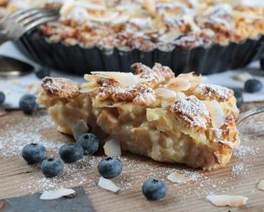 Glutenfreie Apfel-Heidelbeer Tarte