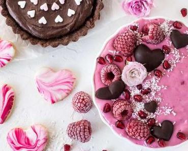 Drei herzige Ideen: Himbeer-Joghurt-Bowl, Marble Cookies & Schoko-Cheesecake-Tartelettes