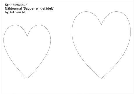 Wärmflaschenbezug mit Herz nähen – kostenloses Schnittmuster mit ...