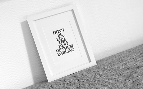 Don't be like the rest of them darling | Aquarell