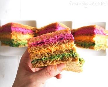 So isst jedes Kind Gemüse: Regenbogen Sandwiches
