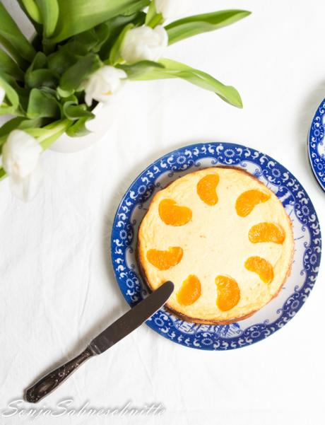 bester Käsekuchen ohne Boden mit Mandarinen + kalorienarmer Variante – mandarin cheesecake recipe without ground +low-calorie version