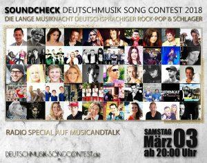 Radio Special: Der Deutschmusik Song Contest Soundcheck 2018