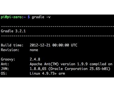 Wie kann Gradle auf einem Raspberry Pi installiert und ein Beispielprojekt in 10 min mit Javadoc, Test und Reports angelegt und gebaut werden?