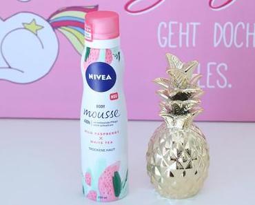 Review Nivea Body Mousse Wild Raspberry & White Tea