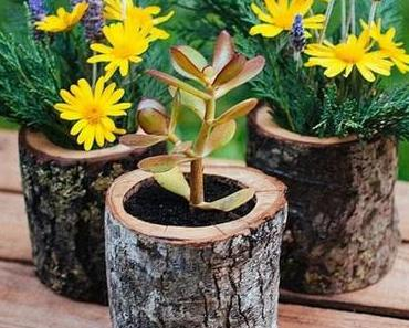 Holz als Dekorationsmaterial im Garten verwenden