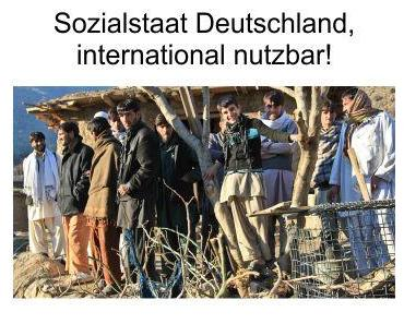 Sozialstaat für Deutschland, das war einmal. Heute ist die internationale Plünderung angesagt
