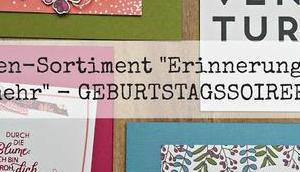"riesiger Schwung Karten SAB-Karten-Sortiment ""Geburtstagssoiree"""