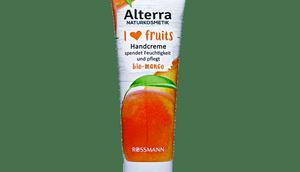 Alterra fruits Handcreme Bio-Mango, Handmaske Bio-Erdbeere, Handpeeling Bio-Apfel Hand- Nagelcreme Bio-Himbeere