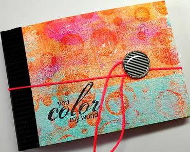 DIY: Mini Art Journal made with Cards