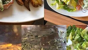 Schweinesteaks Kräuterbutter, Pommes frischem Salat #foodporn #hellofresh Instagram